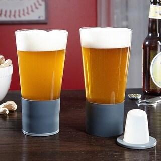 Self-Chilling Beer Glasses, Set of 2