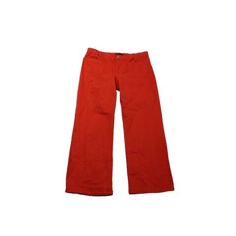 Sanctuary Orange Cropped Flared Jeans