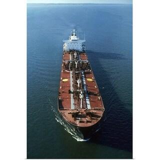 """""""Oil tanker at sea"""" Poster Print"""