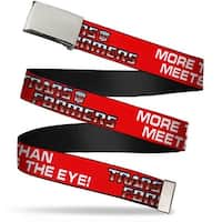 Blank Chrome  Buckle Autobot The Transformers More Than Meets The Eye Web Belt - S