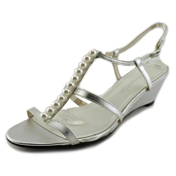 Caparros Sullivan Open Toe Canvas Wedge Sandal