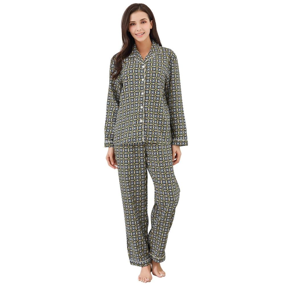 Richie House Womens Two-piece Cotton Pajama Set