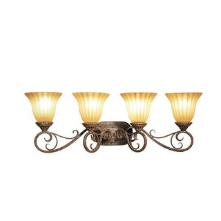 Woodbridge Lighting 53083-RSI 4 Light Up Light Bathroom Fixture from the Avondal - rustic iron