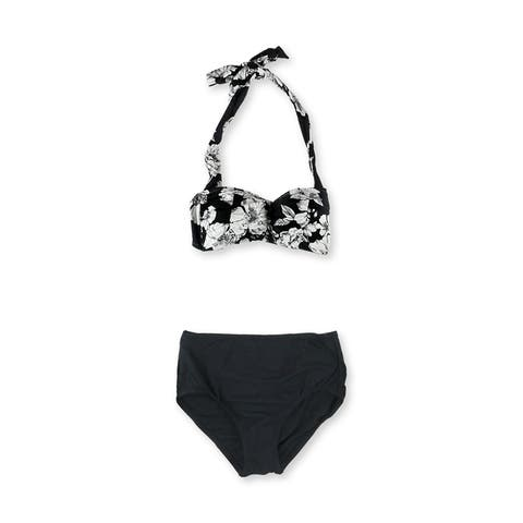 Anne Cole Womens Floral Halter Brief 2 Piece Bikini