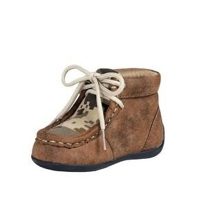Double Barrel Western Shoes Boys Barret Lace Moc Digital Camo