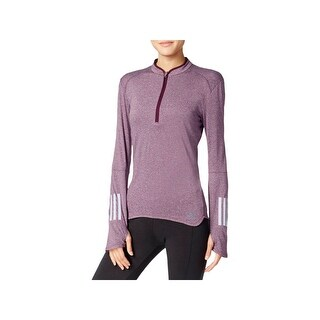 Adidas Womens ClimaLite 1/4 Zip Pullover Reflective Active