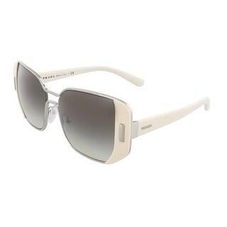 Prada PR 59SS USB0A7 Silver/Ivory Rectangular Sunglasses - 54-16-135