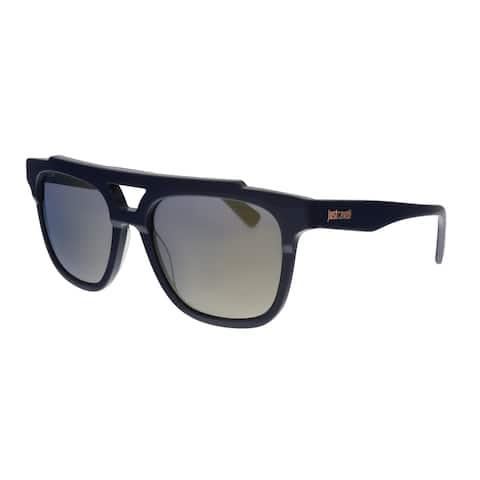 Just Cavalli JC757S 90C Navy Rectangular Sunglasses - No Size