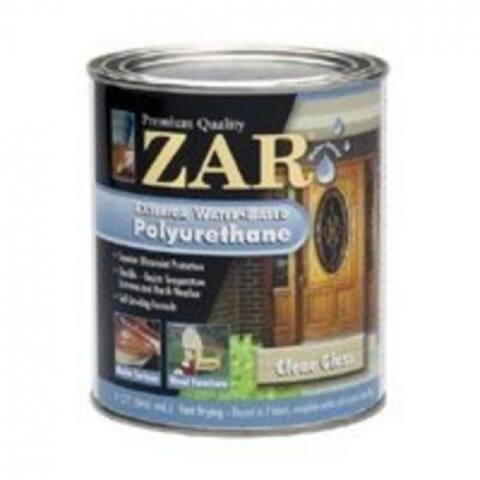 Zar 32712 Exterior Water-Based Polyurethane, Satin, Quart