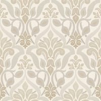 Brewster 2535-20644 Fusion Grey Ombre Damask Wallpaper