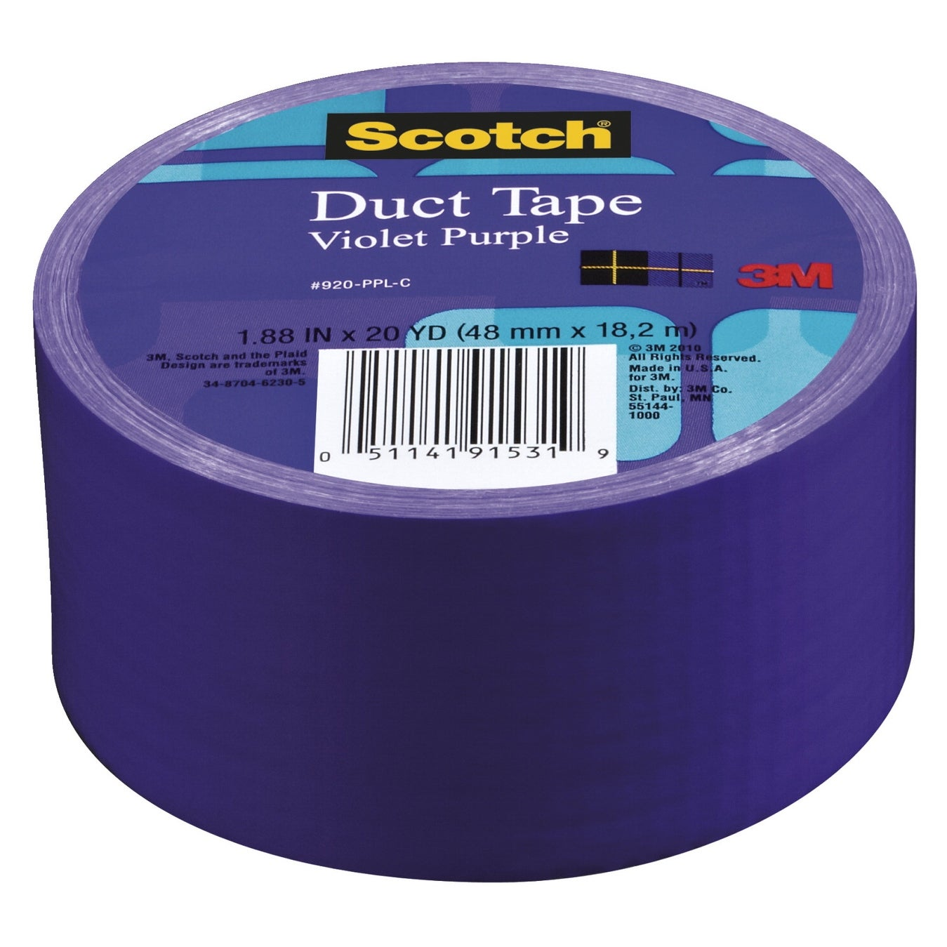 Hot Pink Scotch Duct Tape 1.88 Inches x 20 Yards