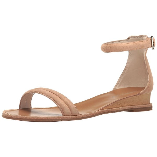 Kenneth Cole New York Womens Jenna Leather Open Toe Casual Ankle Strap Sandals