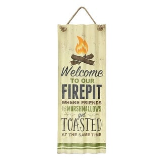 """Link to Welcome To Our Firepit Tin Sign - Indoor/Outdoor Decor - 27.5"""" High - Multicolor Similar Items in Decorative Accessories"""