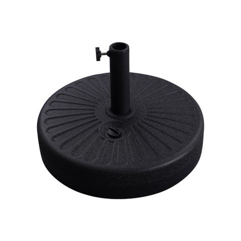 "Bonosuki Patio Umbrella HDPE Base 50lbs Round Water Filled Stand - 19.7"""