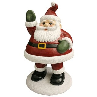 "Design House 319723 15-1/2"" Tall Santa with Bobble Action Lawn Decoration - N/A - N/A"