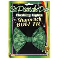 St Patricks Day Flashing Lights Costume Bowtie - Green