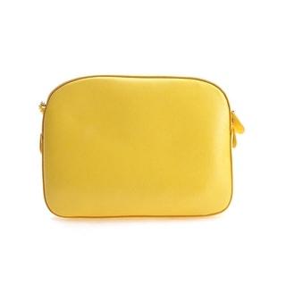 Salvatore Ferragamo Ginny Leather Shoulder Handbag - Yellow - S
