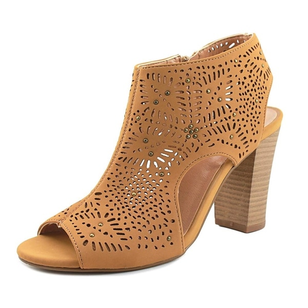 XOXO Betta Women Peep-Toe Synthetic Tan Bootie