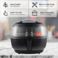 DELLA Air Fryer 10 Quart 1200 WATT Rotisserie Griller Roaster Oil Less Home Kitchen Black