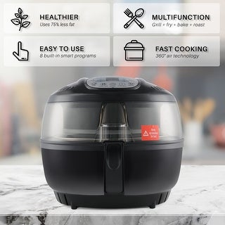 Della Oil Less Roaster Electric Air Cooker Fryer Digital with Display Home Rotisserie for Home Kitchen