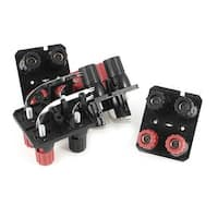 Unique Bargains 4 Pieces Double Rows Wall-Plated Speaker 4 Position 4 Curved Pins Binding Post
