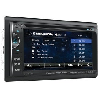 "Power Acoustik(R) PH-620SXMB 6.2"" Double-DIN In-Dash DVD/SiriusXM(R) Radio Bundle with 3 Months Free Service"