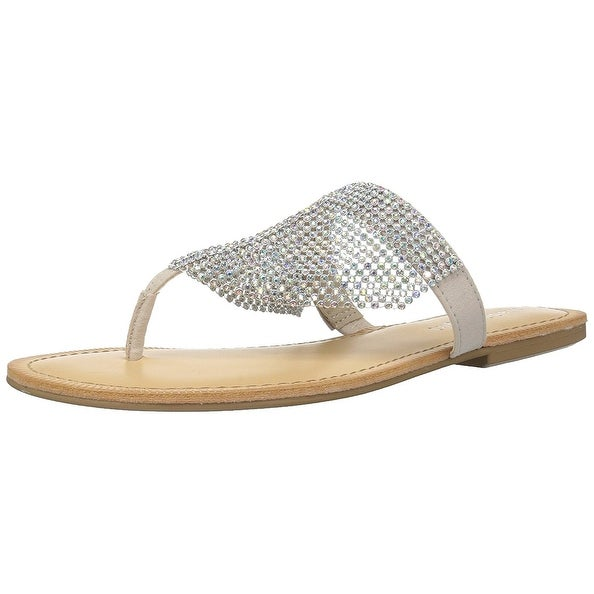 Madden Girl Womens Sabeer Open Toe Casual T-Strap Sandals, Blush, Size 6.0