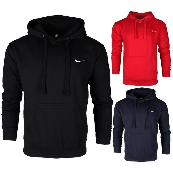 Nike Men's Athletic Wear Embroidered Swoosh Fleece Gym Active Pullover Hoodie. Opens flyout.