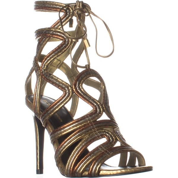 BCBGeneration Jax Heeled Sandals, Python Print Oro Multi
