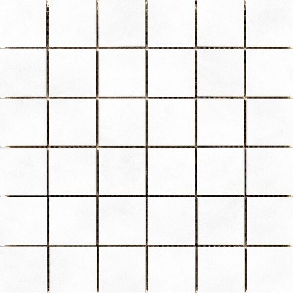 """Emser Tile F26CITI1212MOM Citizen - 12"""" x 12"""" Cubed Backsplash Mosaic Tile - Matte/Satin Porcelain Visual - Sold by Sheet ("""