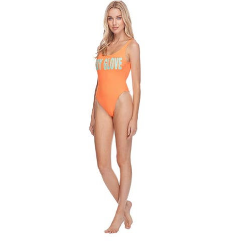 Body Glove Junior's Smoothies The Look One Piece Swimsuit, Mango, XS