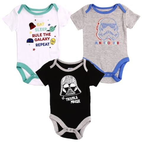 Star Wars Newborn Boys Creeper Set, 3-Pack
