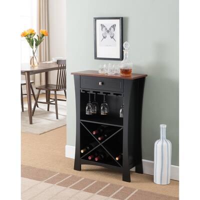 Black-Natural Wine rack