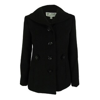 JM Collection Women's Single-Breasted Peacoat - pl