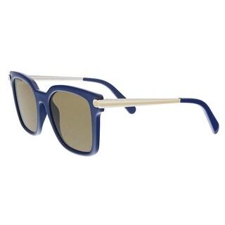 Salvatore Ferragamo SF832S 414 Blue Modified Rectangle Sunglasses - 52-19-140