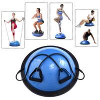 Costway 23'' Yoga Ball Balance Trainer Yoga Fitness Strength Exercise Workout w/Pump Blue