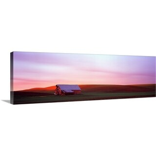 """Barn in a field at sunset, Palouse, Whitman County, Washington State"" Canvas Wall Art"
