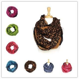 Women's fashion lightweight infinity scarf loops 12-pack - Large