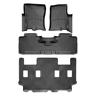 WeatherTech 44107-1-2-5 Black FloorLiner - All Rows: Ford Expedition EL 2007 - 2009