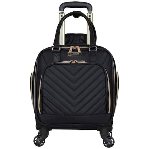 """Kenneth Cole Reaction Women's Chelsea Collection 17"""" Chevron Quilted Softside 4-Wheel Spinner Underseater Carry-On Suitcase"""