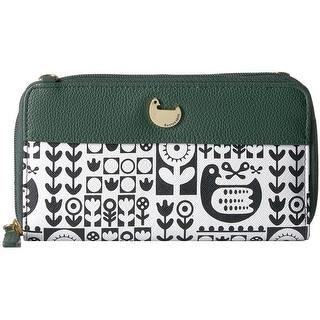 Buxton Womens Nordic Flight Ultimate Clutch Handbag Faux Leather Organizational - Small