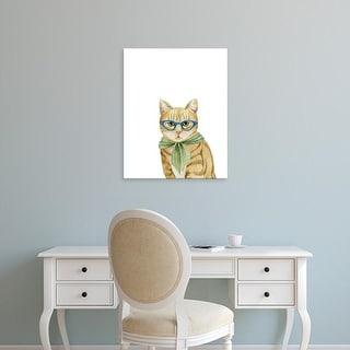 Easy Art Prints Grace Popp's 'Cool Cat IV' Premium Canvas Art