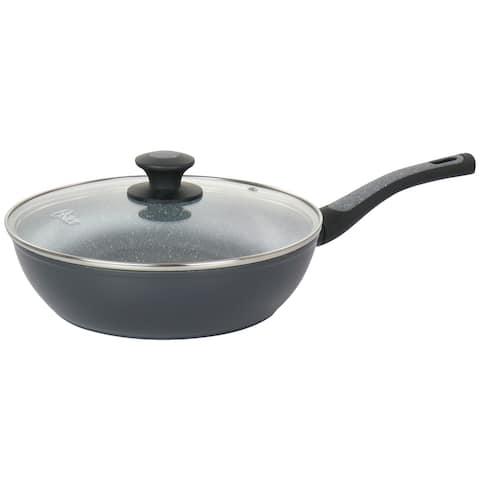 Oster Bastone 3 Quart Aluminum Nonstick Saute Pan in Speckled Gray