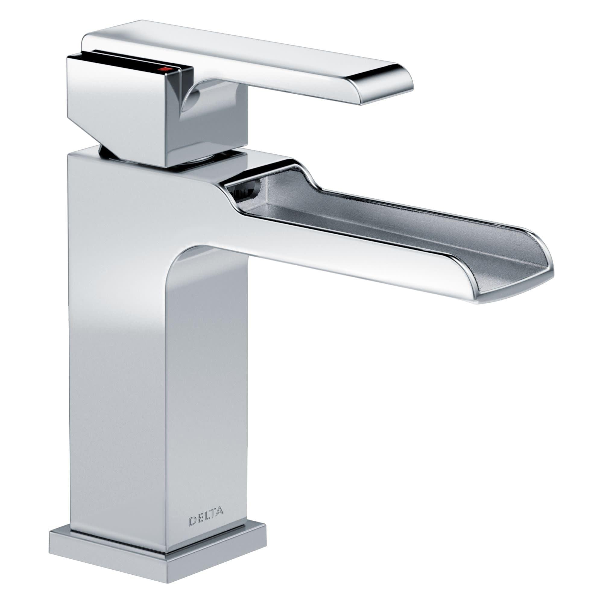 Image of: Shop Black Friday Deals On Delta 568lf Lpu Ara 1 2 Gpm Single Hole Waterfall Bathroom Faucet Overstock 17032797