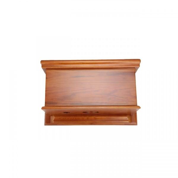 Light Mahogany Wood Flat Panel Tank For High Tank Toilet