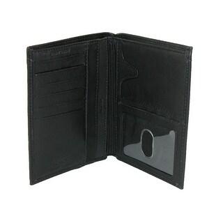Buxton Men's Leather Deluxe Passport Wallet - Black