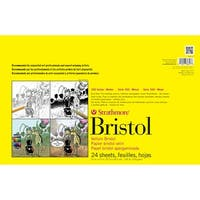 """24 Sheets - Strathmore Bristol Smooth Paper Pad 11""""X17"""""""