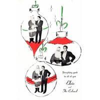 Elvis Presley Original Vintage Christmas Card - Circa 1960