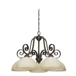 "Sunset Lighting F5256 Provano 5 Light 500 Watt 30"" Width Chandelier - tique"