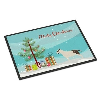 Carolines Treasures BB2996MAT Bull Terrier Merry Christmas Tree Indoor or Outdoor Mat 18x27